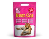 Силикагель  Best Cat (pink bags )  цветочный запах ,3.6кг