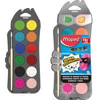 MAPED Краски акварельные MAPED/12 пластик