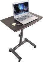 "Стол для ноутбука Tatkraft ""Salute"", на колесах, цвет: черный, 60 х 40 х 52-84 см 13353"