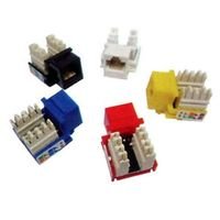 KJ5-01, Keystone Jack RJ-45 Cat.5E 110 Type Yellow