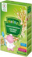 Heinz Низкоаллергенная рисовая кашка без молока (4m+)