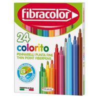 Carioci Fibracolor 24 culori lavabile