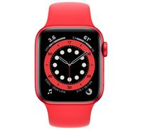 Apple Watch Series 6 40mm Red Aluminum Case with Red Sport Band, M00A3