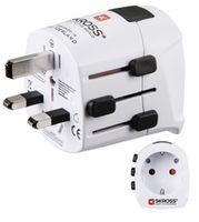 Адаптер электрический Hama 128227 World PRO Light