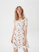 Платье HOUSE Белый с принтом ux929