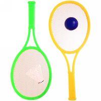 купить Ракетки для пляжного тенниса  357A (пластик, воланчик+мячик, 20*45cm) (3547) в Кишинёве