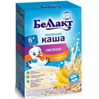 Беллакт каша молочная овсяная c бананом, 6+мес. 250 г