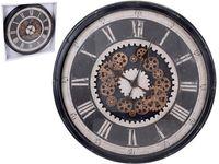 Часы с прозрачным механизмом D76cm,H9cm, пластик, черный