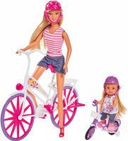 Simba Кукла Еви и Стеффи с велосипедом