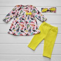 Комплект Туника+штанишки+повязка Yellow