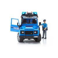Set Mașina Poliției Land Rover Defender cu un polițist, cod 42278