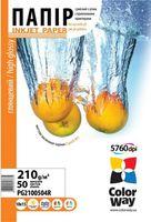 ColorWay Бумага фото COLORWAY 10x15cm 210г/м2/50 глянцевая