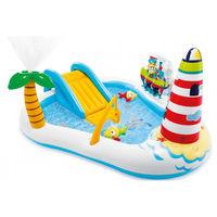 Intex Детский надувной центр бассейн с горкой Рыбалка