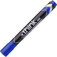 DELI Маркер перманентный DELI U101 1.5-5мм, скошенный синий