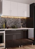 Кухонный гарнитур Bafimob Mini (High Gloss) 1.6m White/Black