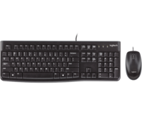 Keyboard & Mouse Logitech MK120, Thin profile, Spill-resistant, Quiet typing, Black, USB