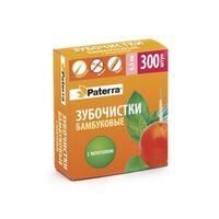 Зубочистки бамбуковые с ментолом, Paterra, 200 шт.