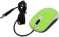 Mouse Genius DX-110, Optical, 1000 dpi, 3 buttons, Ambidextrous, Green, USB