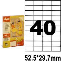 SP Этикетки самоклеющиеся A4, 100 л., 40 шт., 52.5x29.7 мм