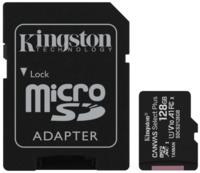 Сard de memorie Kingston microSD 128Gb Class10 A1 UHS-I + SD adapter (SDCS2/128GB)