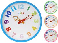 купить Часы настенные круглые D30.5cm, цветные цифры в Кишинёве