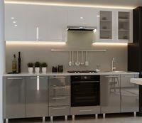 Bucătărie Bafimob Iulia (High Gloss) 2.6m White/Grey