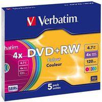 VERBATIM Диск DVD+RW VERBATIM 4x/4.7 cake 43297 с футляром