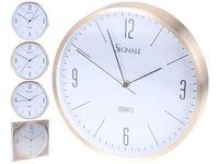 Часы настенные круглые D30cm, металл, золот/сереб/перлам
