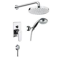 Cмеситель для душa, скрытый монтаж, верхний / ручной душ, шланговое подсоединение, FIORE