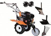 Набор мотоблок TECHNOWORKER HB 704 N + плуг картофель + плуг регулируемый + плуг простой + металлические колеса 4*8