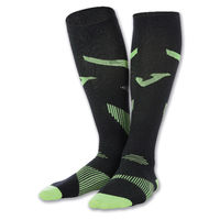 COMPRESSION SOCKS (LARGE) BLACK-FLUOR