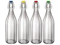 купить Бутылка с крышкой Giara Oxford 1l, с цветной крышкой в Кишинёве
