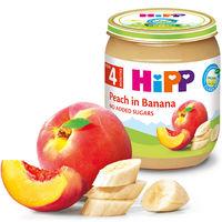 Piure de banane și piersici Hipp (4+ luni), 125g