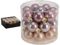 Набор шаров стеклянных 24X25mm, в цилиндре