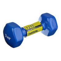 Гантель Silapro 3 кг Adult Fitness Training с цветным виниловым покрытием, 197008