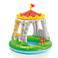 Intex Детский надувной бассейн Замок 1-3 лет 122х122, 68 Л