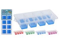 """Форма для льда EH """"Кубики"""" 8 ячеек, 25X13X5см, 4 цвета"""