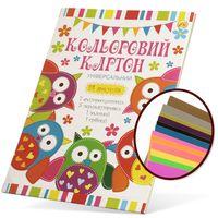Tetrada Картон ТЕТРАДА цветной А4, 14 листов