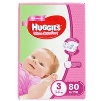 Подгузники Huggies Ultra Comfort Mega 3 Girl (5-9 kg) 80 шт