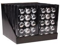 купить Набор шаров 15X45mm, 5матов, 10глянц, серебряных, в коробке в Кишинёве