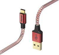 Кабель для моб. устройства Hama 178296 Reflective Type-C 1.5m Red