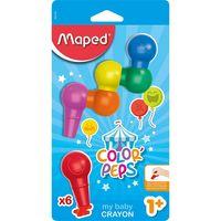 MAPED Карандаши восковые MAPED Baby, 6 цветов