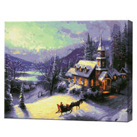 Casă în munți, 40x50cm, pictură pe numere Articol: GX4611