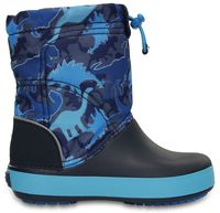 Kids' Crocband LodgePoint Graphic Boot/ Blue Camo
