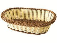 Корзинка для хлеба плетеная овальная 23.5X16X6cm