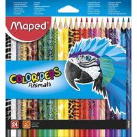 MAPED Карандаши цветные MAPED Animals, 24 цвета