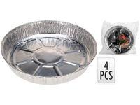купить Формы алюминиевые EH 4шт, D22.8cm H3.5cm в Кишинёве