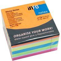 Info Notes Бумага клейкая INFO 75x75мм/6цв., 450 листов, куб неон