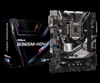 """MB ASRock B365M-HDV mATX //  CPU Supports 9th and 8th Gen Intel®Core™ Processors """