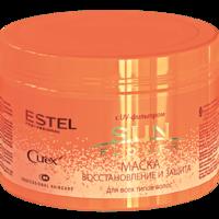 Маска для всех типов волос, ESTEL Curex Sun Flower, 500 мл., Восстановление и Защита, с UV-фильтром